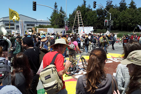 Richmond-Rally-Chevron-Summer-Heat-08-03-13 (we dance and chant while the brave got arrested)